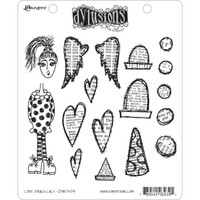 Dyan Reaveley's Dylusions Cling Stamp Collections - Love Struck Lucy