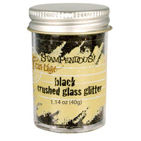 Stampendous Crushed Glass Glitter - Black