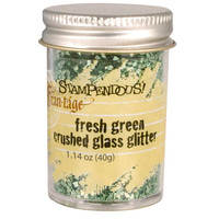 Stampendous Crushed Glass Glitter - Fresh Green