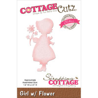 CottageCutz Elites Die - Girl with Flower