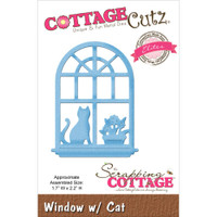 CottageCutz Elites Die - Window with Cat