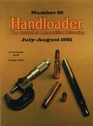 Handloader 92 July 1981
