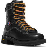 "Danner Women's Quarry USA 7"" Black Work Boot Style No. 17323"