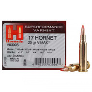 Hornady Superformance Varmint Ammunition- .17 Hornet 20 Grain V-Max