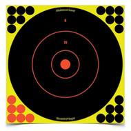 """Shoot•N•C Self-Adhesive Targets 12"""" Bull's-Eye, 12 Pack"""