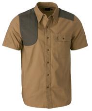 Austin Shooting Shirt, Short Sleeve- Taupe