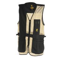 Trapper Creek Mesh Shooting Vest, Black/Tan