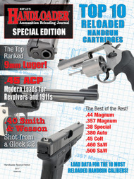 PRE-ORDER ONLY!!!! Handloader Special Edition Top 10 Reloaded Cartridges 2017