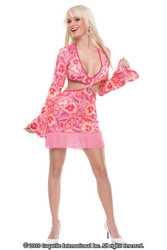 GO GO GIRL 70's DISCO hippie sexy womens costume M L