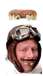 AVIATOR red baron Billy Bob TEETH adult  funny costume