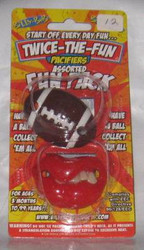ELVIS & FOOTBALL PACIFIER baby boys infant binky shower gift sports fan rock