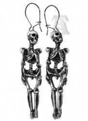 SKELETON skull  lost soul pewter earrings gothic womens jewelry pewter alchemy