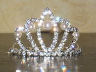 PEARL PRINCESS TIARA crown queen flower girl girls communion dress up costume