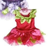 hot pink SATIN flower FAIRY DRESS toddler kids girls halloween costume  6-12M