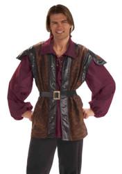 MEDIEVAL Mercenary renaissance adult Vest Shirt Belt Halloween costume Std