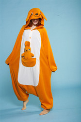 Adult KANGAROO JUMPSUIT animal costume pajamas onesie halloween b-cozy