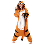 Adult Tiger JUMPSUIT animal costume pajamas onesie halloween b-cozy