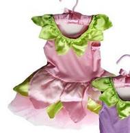 PINK SATIN FAIRY DRESS flower toddler girls halloween birthday costume 12M - 24M