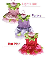 PINK SATIN FAIRY DRESS flower baby girls halloween birthday costume 6-12M