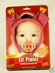 PIGLET HEADBAND & PACIFIER baby infant pig set costume girls boys shower gift
