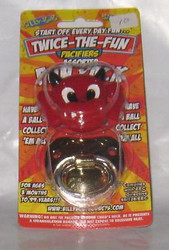 LITTLE DEVIL & GOLD PIMP PACIFIER 2 pack set baby boys infant gift halloween