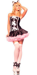 CAT pussy kitty womens sexy adult halloween costume S M