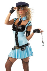 POLICE GIRL woman cop 9pc set sexy womens costume M L