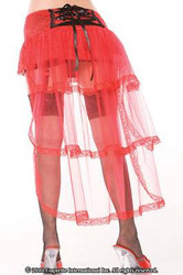 red lace bustle PETTICOAT skirt womens sexy costume