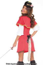 MUSKETEER puss in boots cat kitty sexy womens halloween costume funny M/L