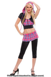 SEXY SCHOOLGIRL womens adult halloween costume S M