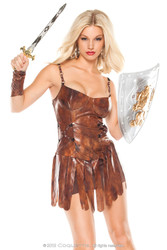 SEXY GLADIATOR warrior dragon slayer womens viking adult halloween costume M/L