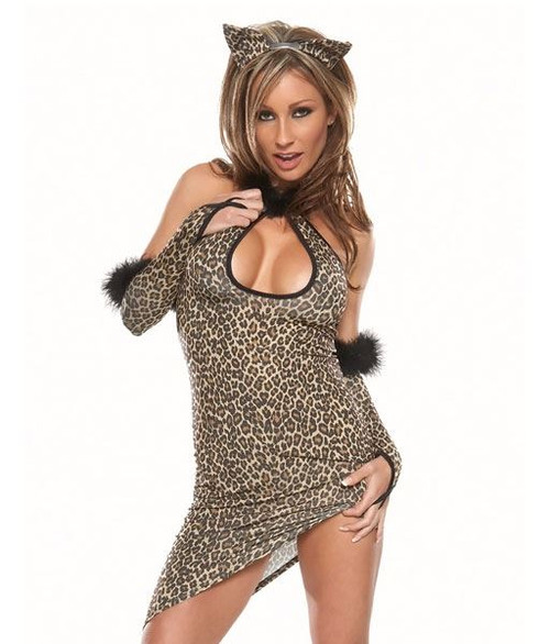 Image 1  sc 1 st  CostumeVille & LEOPARD CHEETAH CAT sexy adult womens costume One size fits most ...