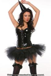 black tulle TUTU womens sexy halloween costume