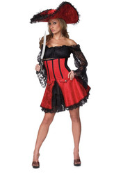 PIRATE WENCH sexy womens adult halloween costume S M