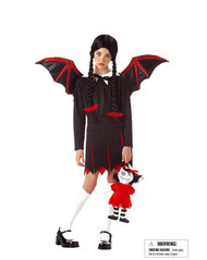 BAT GIRL witch goth teen tween costume halloween L