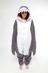 SHARK JUMPSUIT adult animal costume pajamas one piece onesie halloween b-cozy