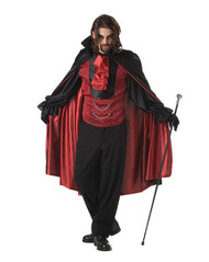 COUNT BLOODTHIRST adult costume vampire costume XL