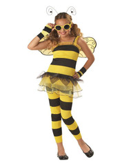 BEE dress glasses wings kids girls halloween costume XS
