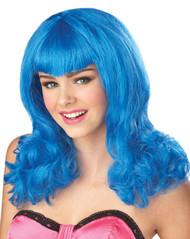 TEENAGE DREAM WIG girls blue wig punk teen tween