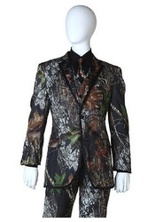 MOSSY OAK TUX COAT camou jacket alpine wedding tuxedo duck dynasty formal LARGE