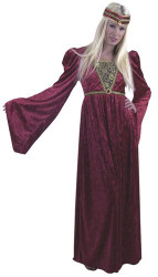 RENAISSANCE QUEEN lady sexy halloween adult costume L