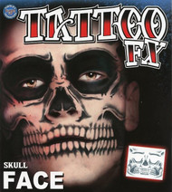 Skull Face Temporary Tattoo Tinsley Transfers