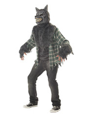 FULL MOON MADNESS werewolf mens halloween costume M