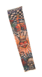 TATTOO SLEEVE king hearts adult ink costume halloween