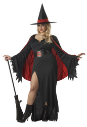 SCARLET WITCH vampire classic goth cape womens plus halloween costume 2XL XXL