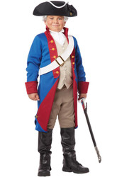AMERICAN PATRIOT revolutionary boys washington historical soldier costume LARGE