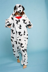 DALMATIAN JUMPSUIT adult animal costume pajamas dog onesie halloween b-cozy