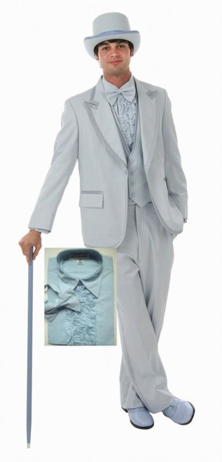 BLUE TUXEDO SET prom quality mens dumb and dumber adult halloween ...