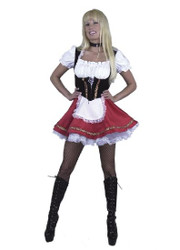 Beer Garden fraulein Wench sexy womens costume RED XS