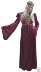 RENAISSANCE QUEEN lady sexy halloween adult costume S